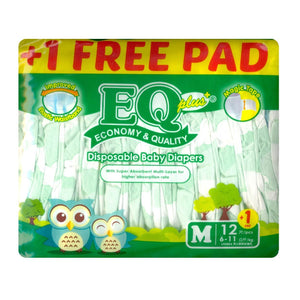 EQ Plus Disposable Diapers M 12s