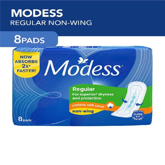Modess Napkin Maxi Regular Cottony Soft Cover Non Wings 8s