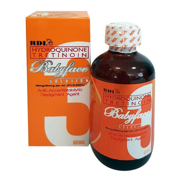 RDL Hydroquinone Tretinoin Babyface Solution 3 Anti Acne 60ml