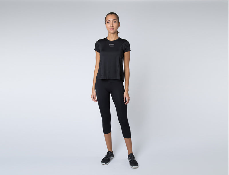 Run Performance Shirt Black (Short Back Hem)