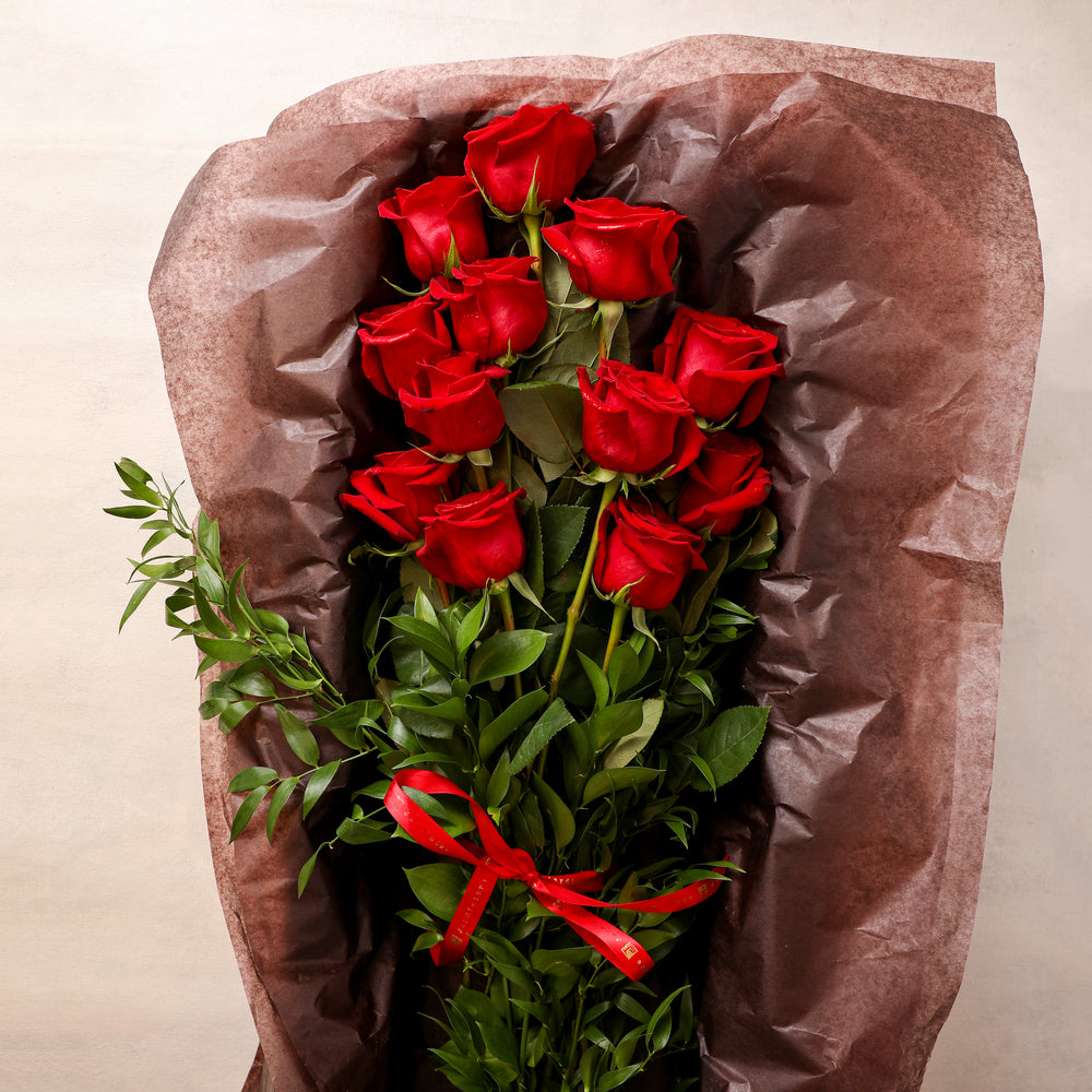 One Dozen Long Stemmed Roses in a Box
