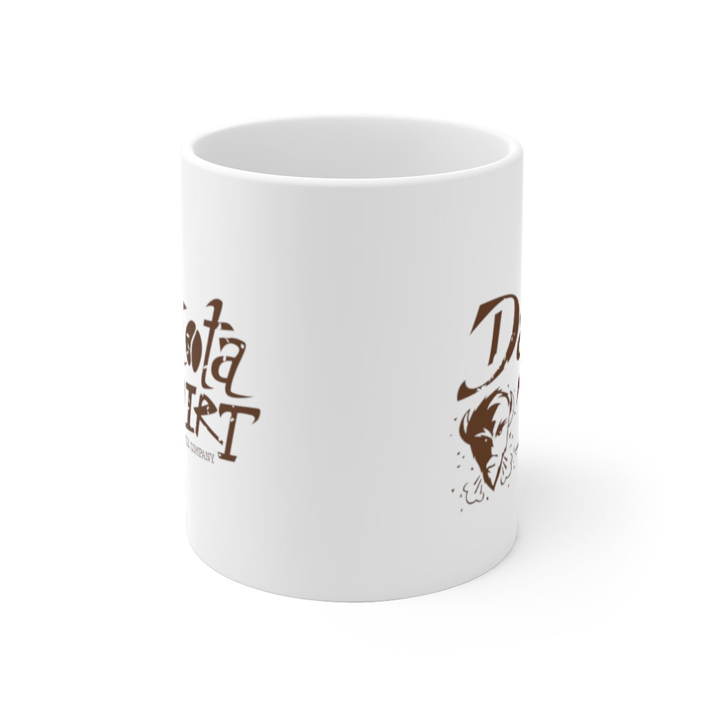 Coffee Cup (brown text + icon logo)