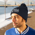 Load image into Gallery viewer, Unisex Pom Pom Beanie (text + icon logo)