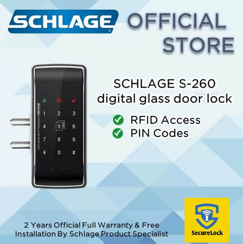 The Schlage S-260 Digital Glass Door Lock