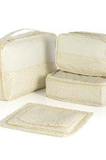 ALBA 6-PIECE TRAVEL ORGANIZER SET,IVORY