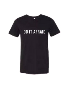 """DO IT AFRAID"" Unisex Jersey Tee"