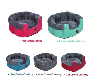 red green blue and grey pet bed