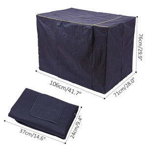 navy dog crate cage cover dimensions