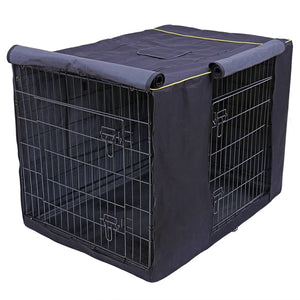 navy dog crate cage cover
