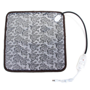 floral electric heating pad bed