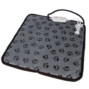 Paw print electric heating pad bed