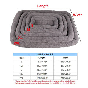 sizes of grey fleece pet beds