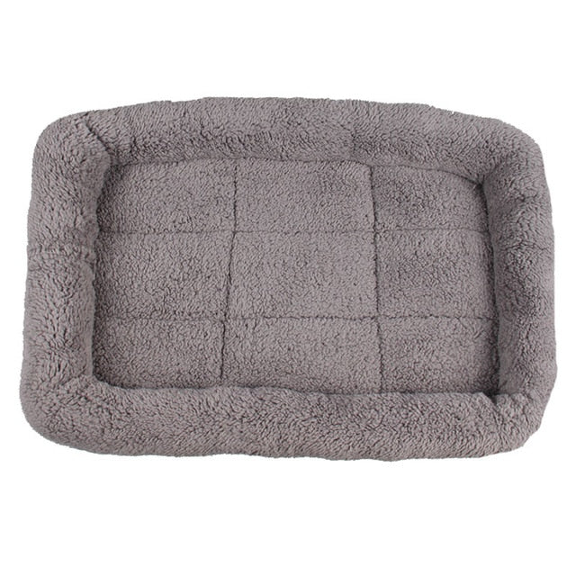 grey fleece pet bed