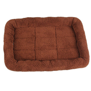 brown fleece pet bed