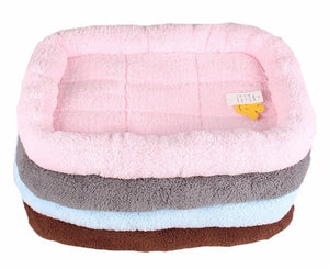 Fleece Pet Bed With Cushioned Base and Supportive Sides