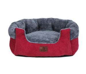 red pet bed