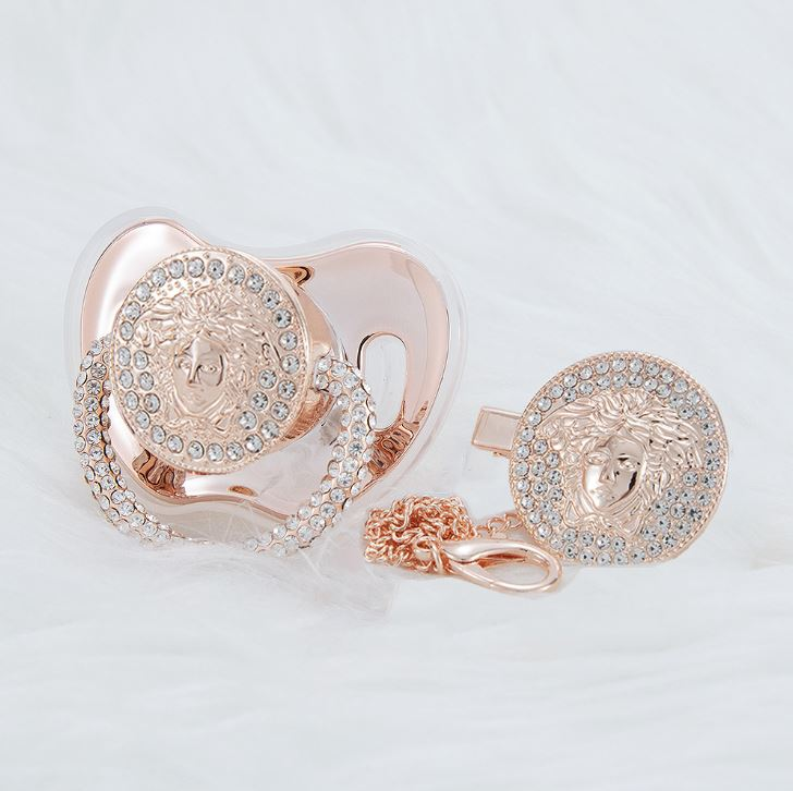 Versace 14K Rose Gold Pacifier