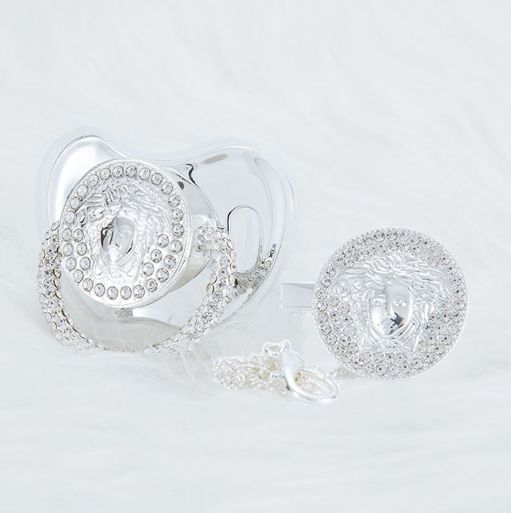 Versace 14K White Gold Pacifier