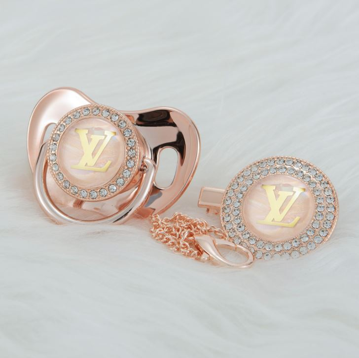 LV Rose Gold Pacifier