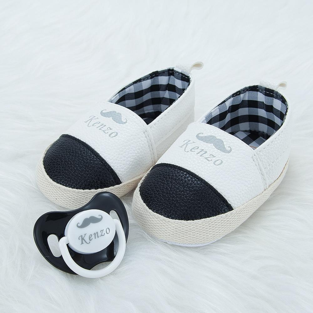 Custom Boy's Leather-Like Shoes With Pacifier - zohargift