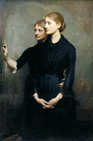 "Abbott Thayer ""The Sisters"" 1884"