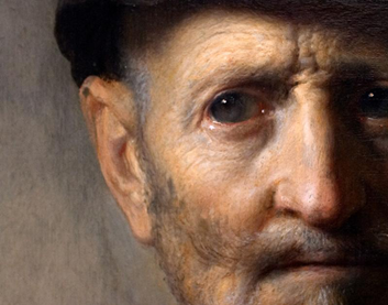 "Rembrandt ""Old Man in Military Costume"" (detail) 1630-31"