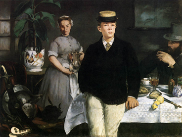 Edouard Manet Luncheon in the Studio 1868