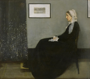 "ames Whistler ""Arrangement in Grey and Black, No 1"" or commonly known as ""Whistler's Mother"" 1871"