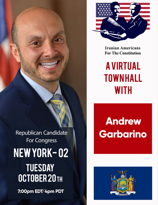 A Virtual Town Hall with Congressional Candidate, Assemblyman Andrew Garbarino, Republican for Congress (NY-02).