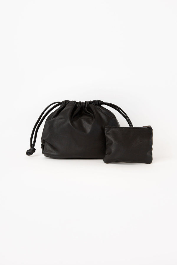 Matte Black | Baby Drawstring Bag