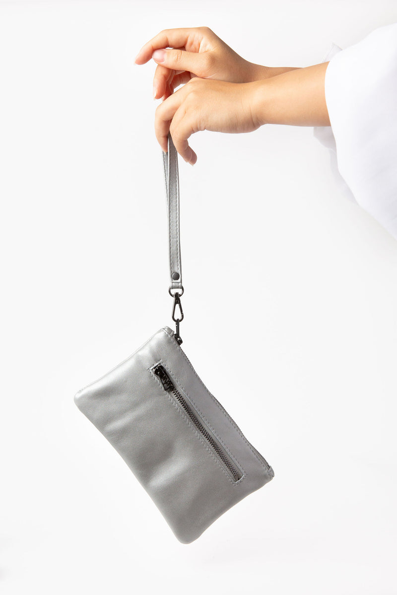 Mini Clutch | Metallic Steel