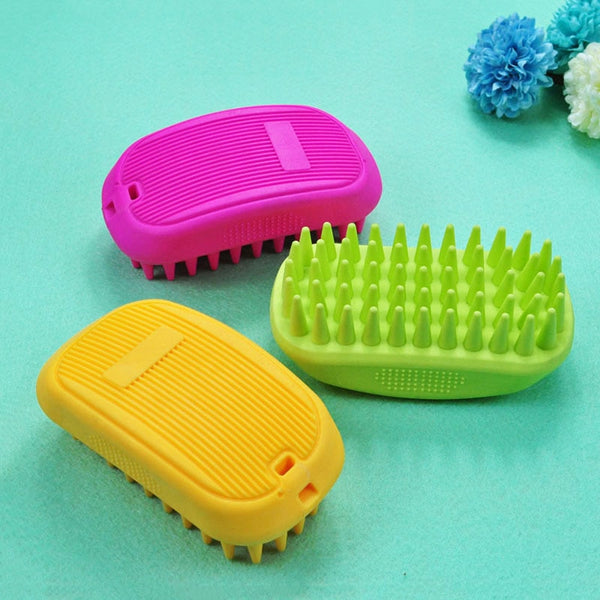 Pet Bath Brush Rubber Comb Hair Removal Brush Pet Dog Cat Grooming Cleaning Glove Massage Pet Hair Care Tool