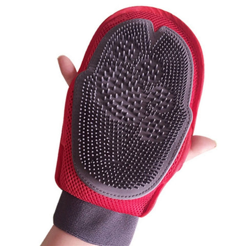 Red Glove For Cats Cat Grooming Pet Dog Hair Deshedding Brush Comb Glove For Pet Dog Finger Cleaning Massage Glove For Animal