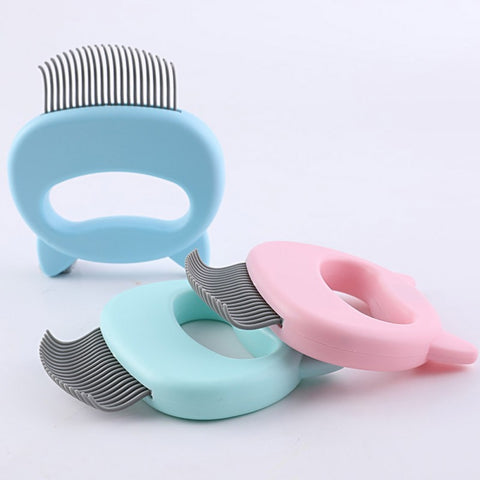 Pet Massage Brush Shell Shaped Handle Pet Grooming Massage Tool Remove Loose Hairs For Cats Pets Supplies