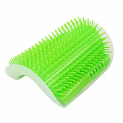 Pet Products For Cats Brush Corner Cat Massage Self Groomer Comb Brush With Catnip Cat rubs the face a tickling comb