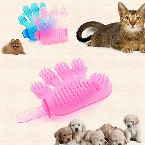 Pet Dog Comb Brush Glove For Dogs Grooming Massage Supply Cleaning Five Fingers Glove Bath Brush Cat Beauty Cleaning Supplies