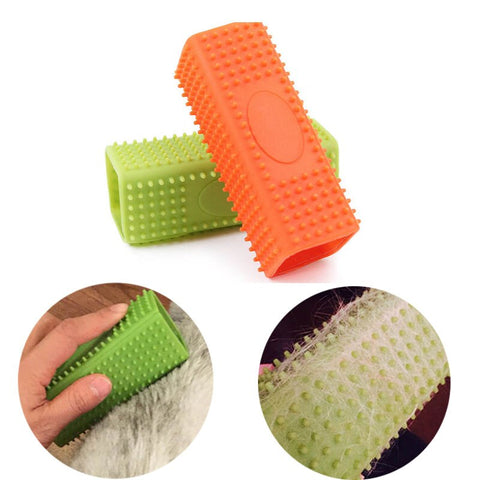 Hollow Rubber Pet Hair Remover Brush Dog Cleaning Massage Brush  Fur Remover Brush for Furniture Clothing Car Seat Cat Fur Brush