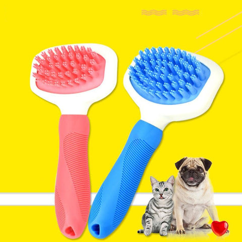 High Quality Silicone Pet Dog Cat Grooming Comb Brush for Bathing Cleaning Massage Plastic Brush Comb for Dogs Cats