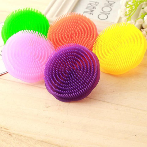 Round Pet Products Dog Cat Bath Brush Comb Cute Lovely Fur Grooming Massage Device Colorful Hair Brush