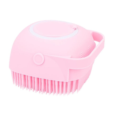 Pet Dog Bath Brush Comb Pet Massage Brush Soft Silicone Dogs Cats Grooming Cmob Dog Pet Supplies Shampoo Container Brush