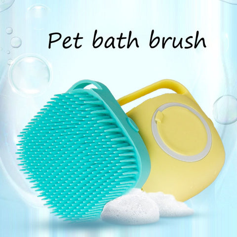 2020 Pet Silicone Bath Massage Soft Hair Brush Dog Bath brush comb brush dog cat bath dog cleaning tool pet supplies DA001