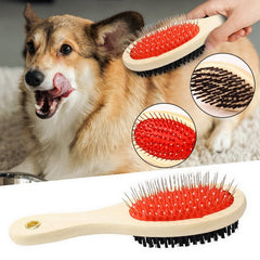 Dog Brush Double Sided Pet Slicker Brush Cat Long Hair Pets Grooming Comb Puppy Wooden Grooming Rake  Massage Clean Product