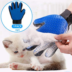 Oauee Cat Grooming Glove for Cats Wool Glove Pet Hair Deshedding Brush Comb Glove For Pet Dog Cleaning Massage Glove For Animal