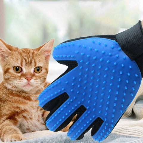 Pet Glove Cat Gloves Grooming Glove Hair Deshedding Brush Gloves Bath Brush Massage Cleaning Brush Gloves for Cat Dog Pet Glove