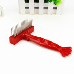 Golden Retriever Long Hair Large Dog Comb Double Row Pet Hair Remover Brush Cat Massage Comb Dog Grooming Comb Large Dog Brush
