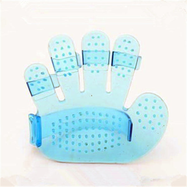 Fashion rubber Pet Bath Brush Dog Toys Rub Massage Brush Pet Hand Brush for Dogs and Cats Pet Accessories(color:blue,pink)