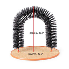 Arch Door Cat Massage Toy Brush Scratcher For Pets Scratching Devices Cat Self Groomer With Round Fleece Base