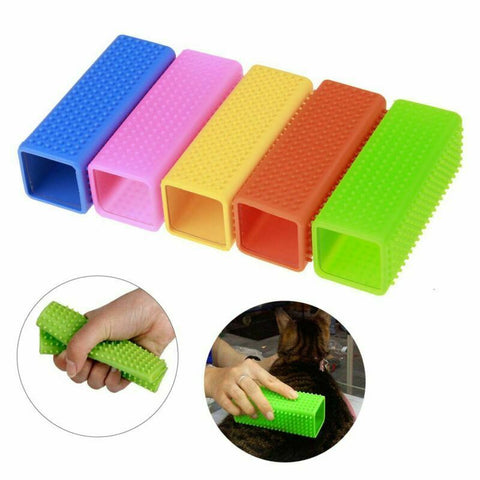 New Silicone Pet Hair Removal Comb Cat Dog Hair Shedding Trimming Massage Cat Grooming Tool Cleaner Brush Pet Supply