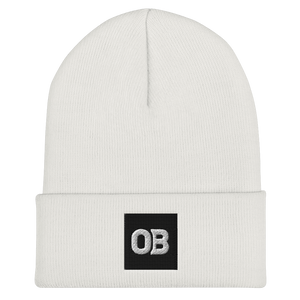 OB Cuffed Beanie - White/Green/Grey/Red