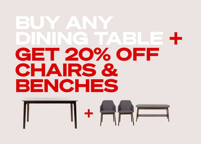 Receive 20% off Chairs & Benches with our Bundles